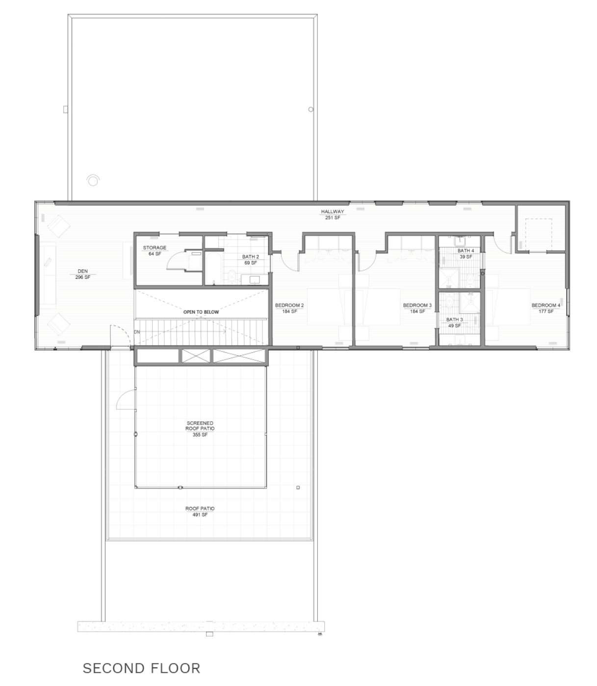 floorplan of second floor