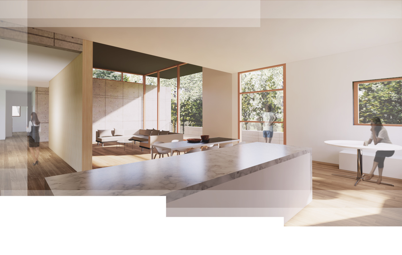 rendering of modern home