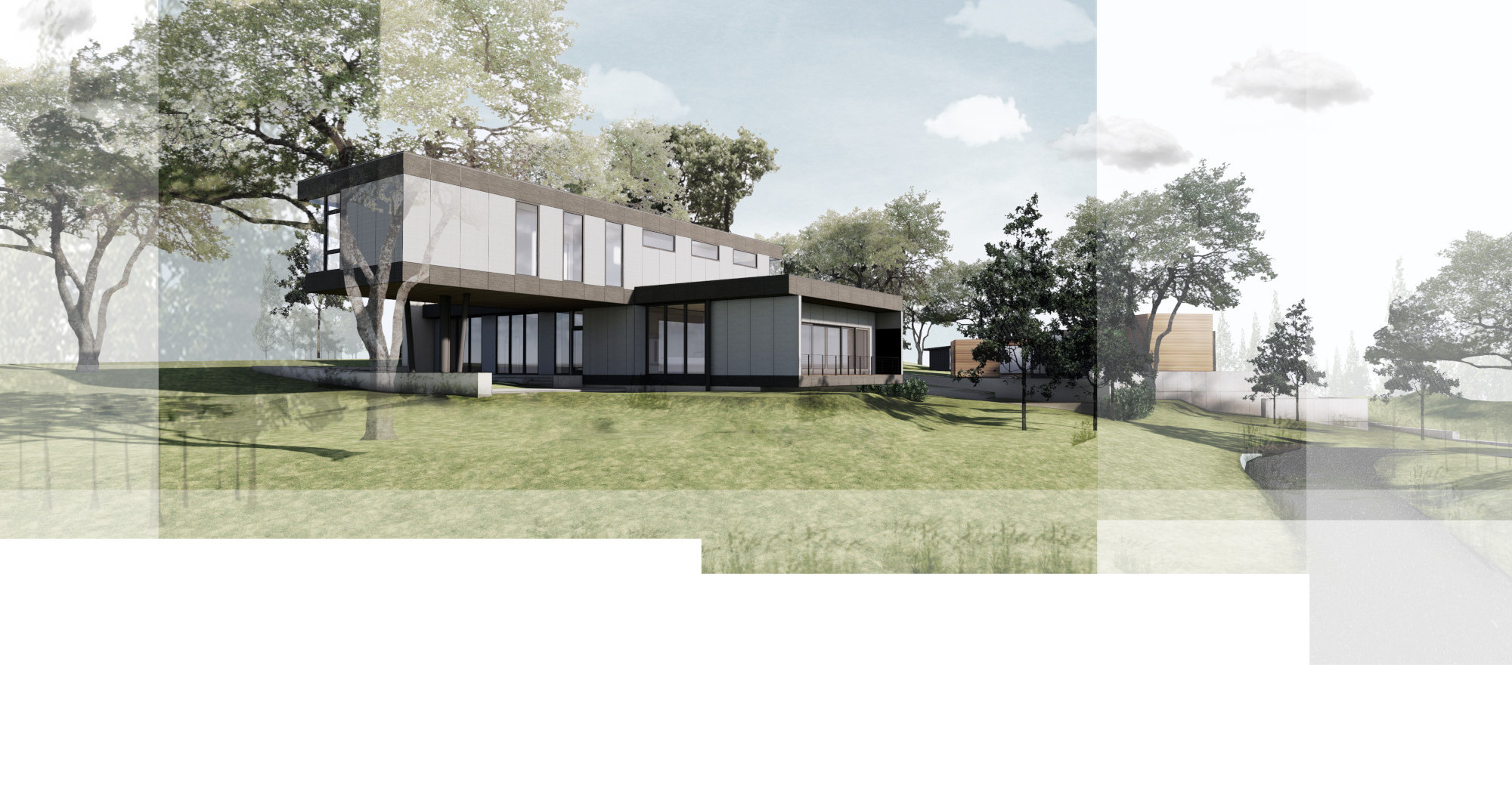 rendering of the Warbler property